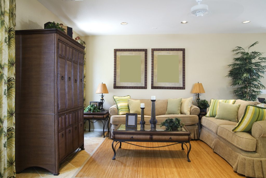 Staged living room. Example of benefits of In-home staging consultation.