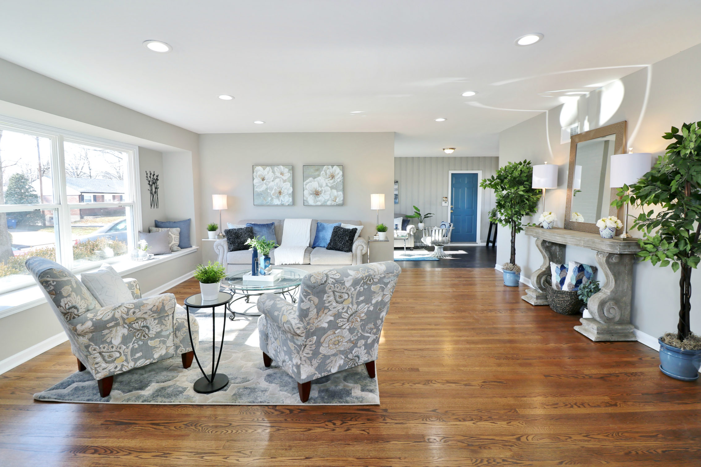 Staged home in University City, MO. Winter decorating ideas