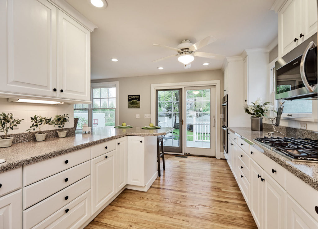 A staged kitchen - Occupied home staging St. Louis